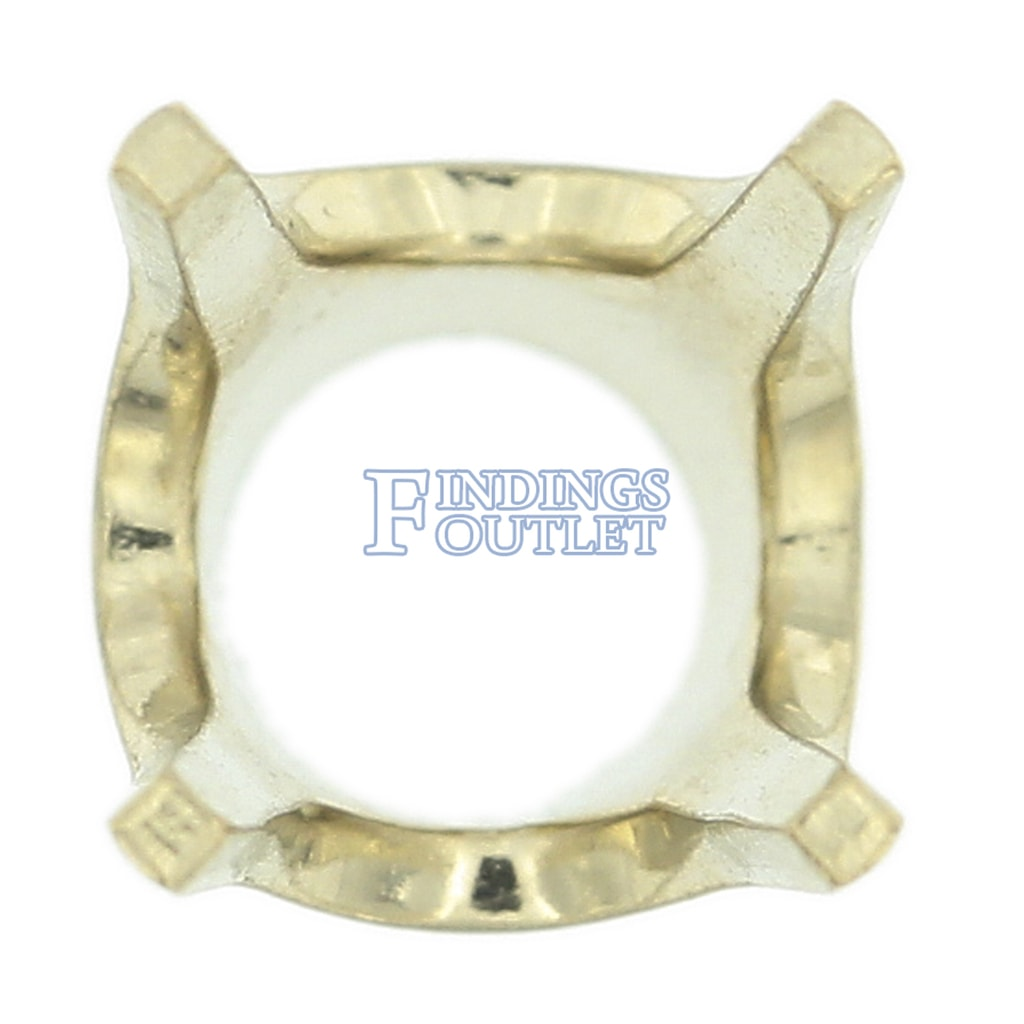 14K White Gold Round V34 Low Base Head Setting Mounting 4 Prong 0.005ct 2.00ct
