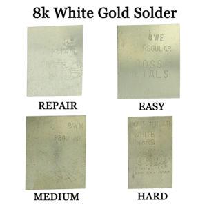 14K White Gold Hard Regular Solder One Gram Plate For Jewelry Repair Soldering