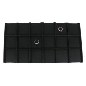 Details about  /Steel Gray Faux Leatherette Stackable Bracelet Tray w//Black Leatherette Insert