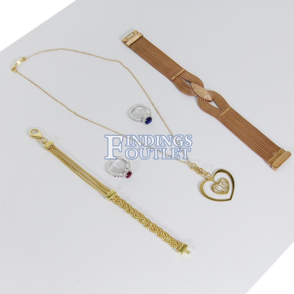 Details about  /Stylish White Resin Jewelry Display Stand Ring Bracelet Earrings Holder Showcase